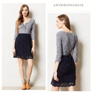 Anthropologie Lilka Mayra Sweater Lace Dress S